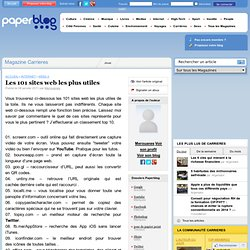 Les 101 sites web les plus utiles