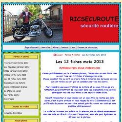 Les 12 fiches moto 2013