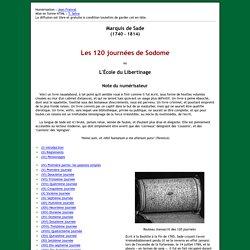Les 120 journées de Sodome en PDF