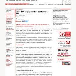 Les « 144 engagements » de Marine Le Pen