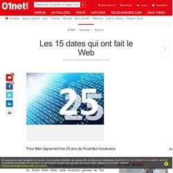Les 15 dates qui ont fait le Web