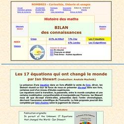 Les 17 équations qui ont changé le monde