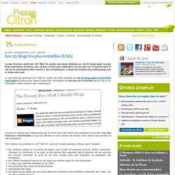 Les 25 blogs les plus riches