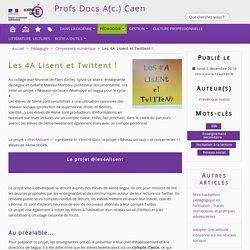 Les 4A Lisent et Twittent ! - Profs Docs A(c.) Caen