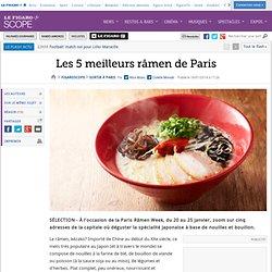 Les 5 meilleurs râmen de Paris