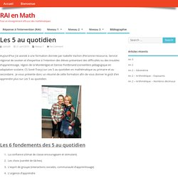 Les 5 au quotidien » RAI en Math