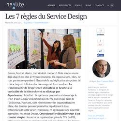 Les 7 règles du Service Design