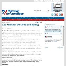 Les 7 risques du cloud computing