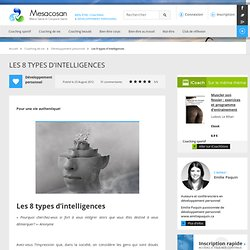 Les 8 types d'intelligences