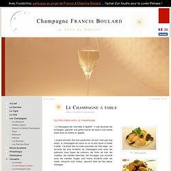 Les accords avec le champagne