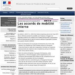 Les accords de mobilité interne