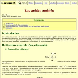 Les acide aminés