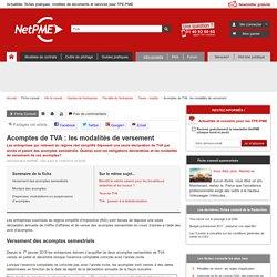 Les acomptes de TVA sous le régime simplifié