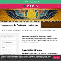 Les actions de Paris pour le cinéma