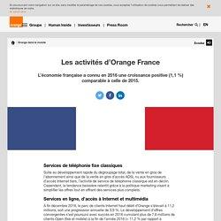 Les activités d'Orange France