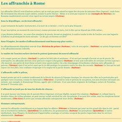 Les affranchis à Rome