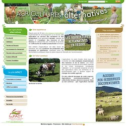 Les agricultures alternatives
