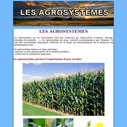 les agrosystemes