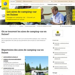 Les aires de camping-car en Suisse - TCS Suisse