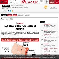 Les Alsaciens rejettent la fusion