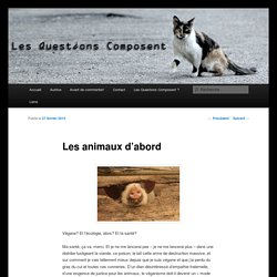 Les animaux d'abord