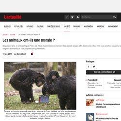 Les animaux ont-ils une morale