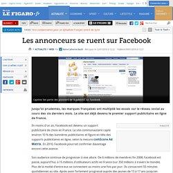 Web : Les annonceurs se ruent sur Facebook