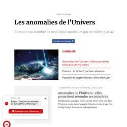 Les anomalies de l'Univers