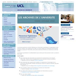 Les archives de l'Université
