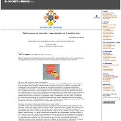 Des livres pour les tout-petits : regard singulier sur la tradition orale (2005)