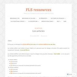 Les articles – FLS ressources