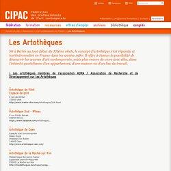 Les Artothèques membres de l'Association de Recherche et de Développement sur les Artothèques / CIPAC.net (Rubrique Ressources > L'art contemporain en France)
