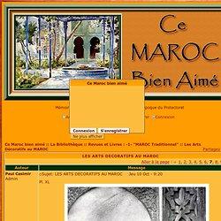 LES ARTS DECORATIFS AU MAROC - Page 7