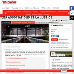 Les associations et la justice