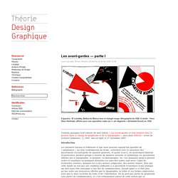 HIST: Les avant-gardes graphiques -F