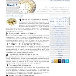 Les avantages de bitcoin