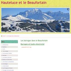 Les barrages dans le Beaufortain