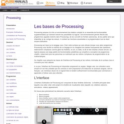 Les-Bases-De-Processing / Processing