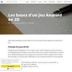 Les bases d'un jeu Android en 2D