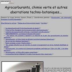 Les bio-carburants