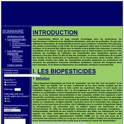 Les biopesticides