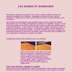 Les bords et bordures
