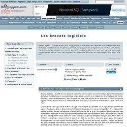 Les brevets logiciels