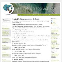 Les Cafés Géo » Les Cafés Géographiques de Paris