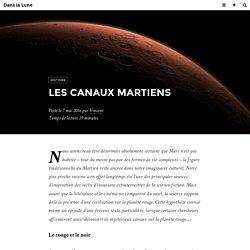 Les canaux martiens - Dans la Lune
