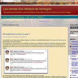 #PrivéDeDéserts petition medecine 2.0 (réponse de la Ministre)