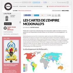 Les cartes de l'empire Mcdonald's
