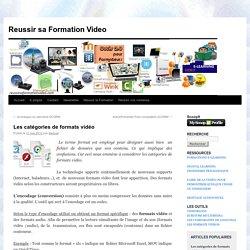 Reussir sa Formation Video Les catégories de formats vidéo