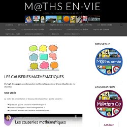 Les causeries mathématiques – M@ths en-vie