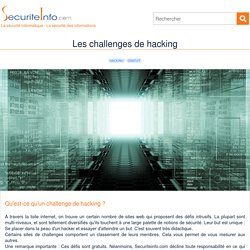 Les challenges de hacking